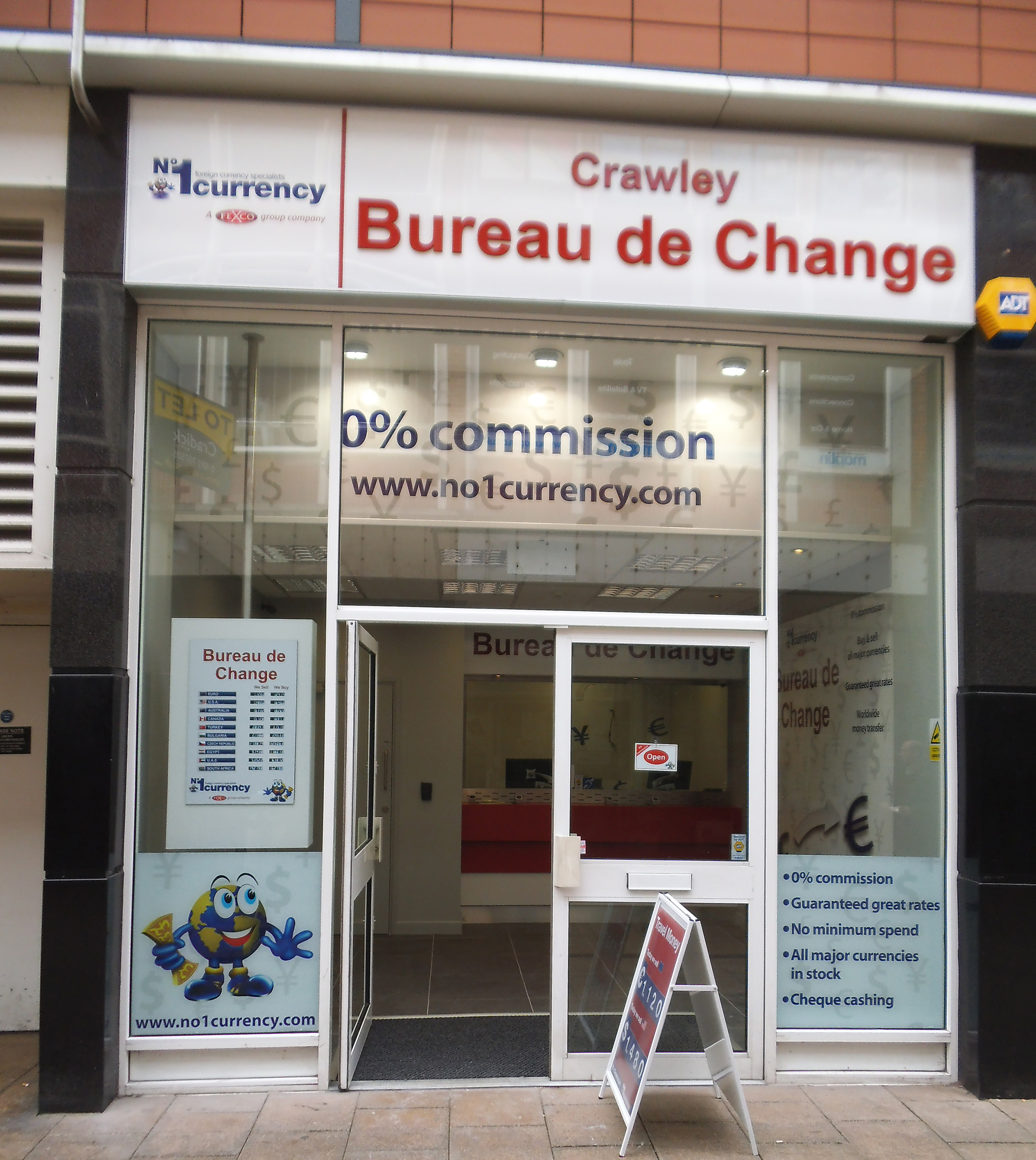 currency exchange store crawley