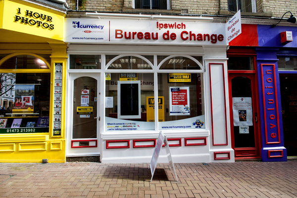 No 1 currency exchange ipswich for Bureau change