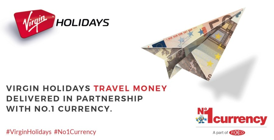 Virgin Holidays announce No.1 Currency as official travel money partner